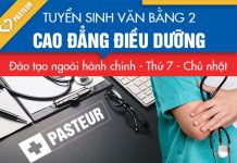 Học phí Văn bằng 2 Cao đẳng Dược Pasteur TP.HCM năm 2018