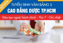 Chi tiết cách nộp hồ sơ xét tuyển VB2 Cao đẳng Dược TP.HCM năm 2018