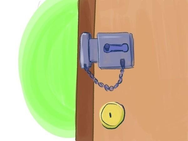 Lưu ý kiểm tra khóa cửa trước khi ra ngoài hoặc đi ngủ