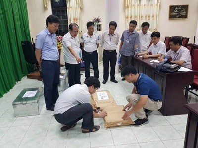 Quá trình rà soát thẩm định bài thi tại tỉnh Hà Giang