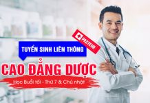 Điều kiện tuyển sinh Liên thông Cao đẳng Dược TPHCM năm 2019