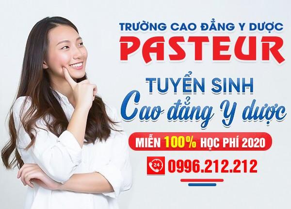 Trường Cao đẳng Y Dược Pasteur miễn 100% học phí 5 mã ngành đào tạo chính quy