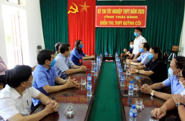 Lãnh đạo tỉnh Thái Bình kiểm tra công tác thi tốt nghiệp THPT tại huyện Quỳnh Côi